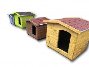 Amerikai tetős kutyaház választható szín, méret és fűtés