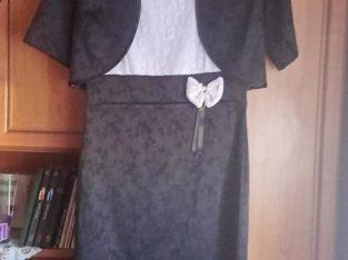Fekete-fehér ruha boleróval