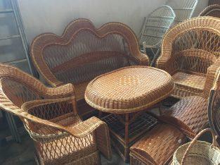 Tiszai fűvesszőből fonott kerti bútor