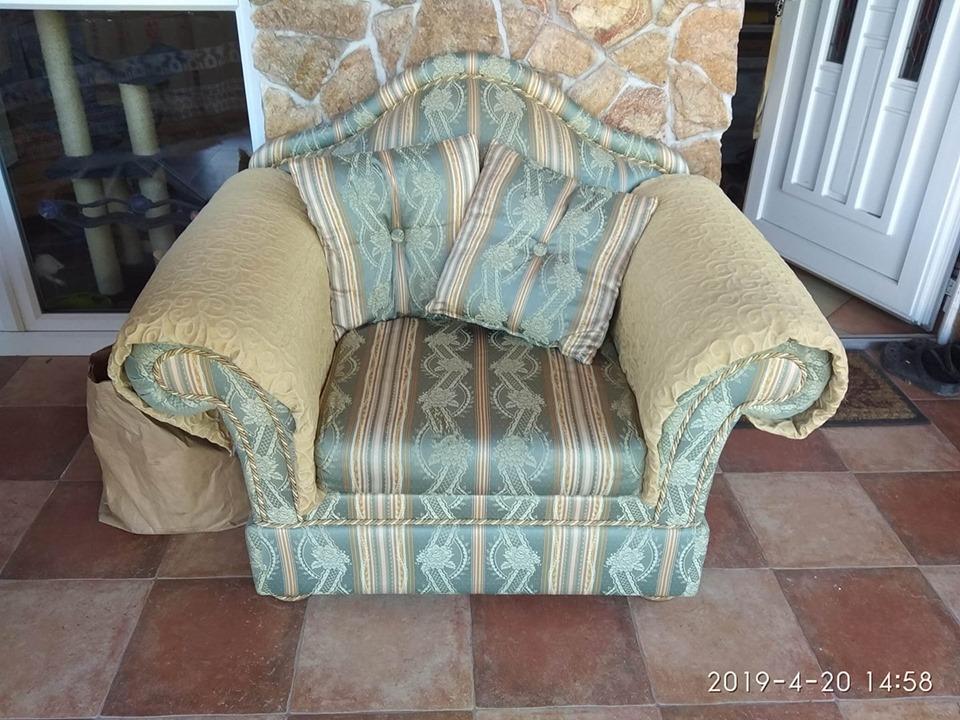 Királyi fotel 120 cm széles