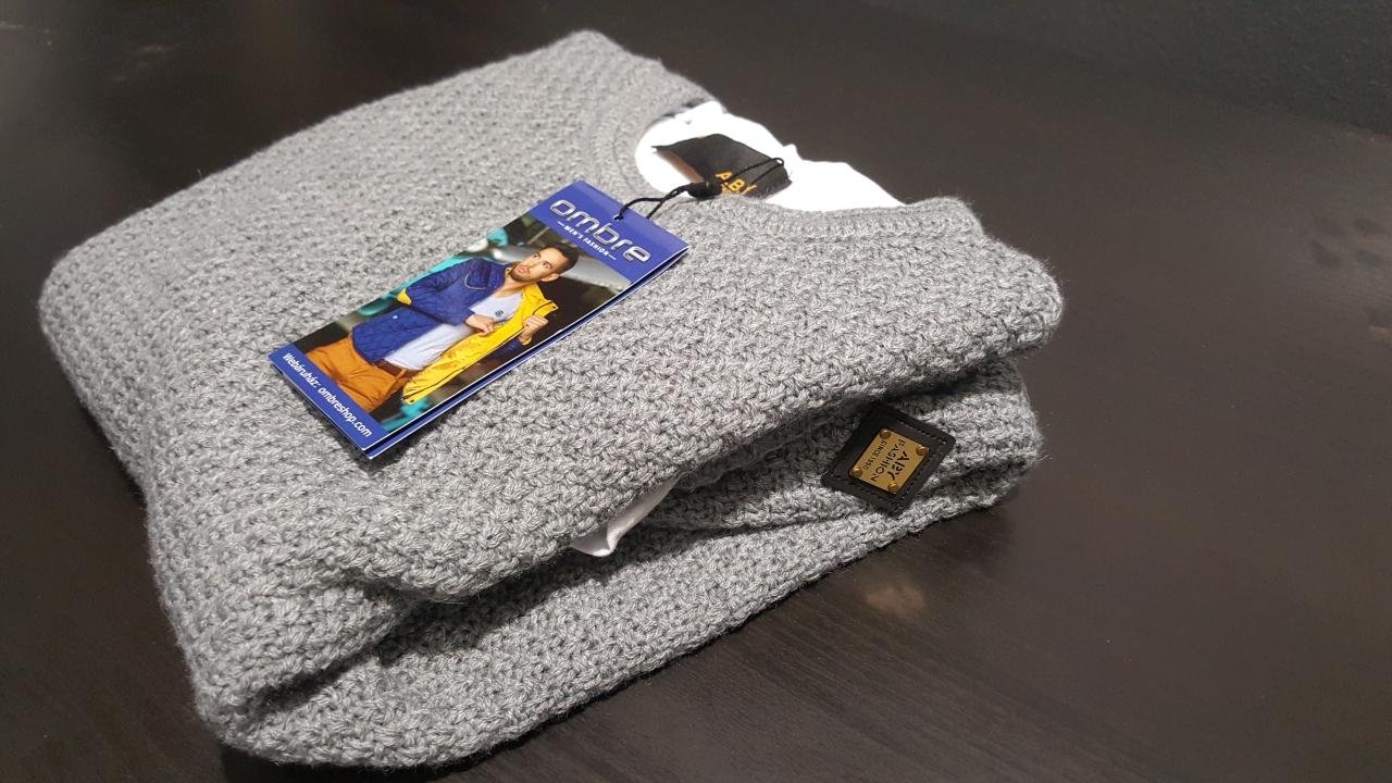 ELADÓ: Ombre pulóver E95 s (szürke)