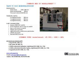 Eladó új Taath V6 Plus megmunkálóközpontok